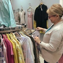 Picture of Customer shopping in the High End Room